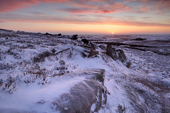 High Crag Ridge in Winter (rgarrigus) Tags: morning winter england snow sunrise landscape rocks yorkshire nidderdale tse pateleybridge glasshouses greatphotographers garrigus robertgarrigus robertgarrigusphotography highcragridge