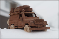 African Jeep on Ice (Mat Robertshaw) Tags: game car toy wooden jeep malawi humvee landrover humber woodentoy woodencar