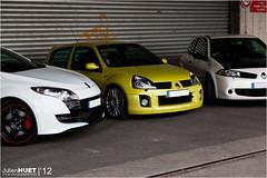 Renault Megane RS R26R, 3RS Trophy & Clio V6 - Vae Victis & Friends (Julien Huet Photography (www.julien-huet.com)) Tags: pictures camera white france cars s