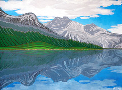 Emerald Lake, Acrylic on Canvas 2012