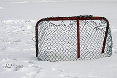 Still waiting for the zamboni ... (>> Hal <<) Tags: red snow game green net ice hockey kids newfoundland children duck pond stjohns stick skates boweringpark nottobeusedwithoutmypermission