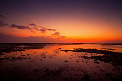 I found water on Mars (Fabio Sabatini) Tags: longexposure sunset red mars hot water clouds indonesia dusk sigma wideangle lowtide 1020mm lombok gilimeno f456
