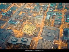 Skydeck, Willis Tower, Chicago, IL_06 (Sam & Sophie Images) Tags: sunset chicago night voigtlander scene skydeck leicam8 willistower