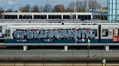 Graffiti Metro Rotterdam (oerendhard1) Tags: urban streetart art train graffiti rotterdam metro painted