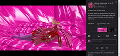 I hate the New layout (Shiny moniree in sl 5) Tags: world life pink girls red cute girl lady fetish work shiny doll flickr sweet girly goddess barbie rubber queen sl land second latex dolly slippery rubberhair rubbery latexskin cgiart rubberskin moniree latexhair latexy