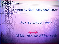 Hydro Wires Buzzing (Irene, Montreal, QC) Tags: trees beta hydro protests treebranches buzzing hydrowires celltowers treesilhouettes protestposters oldflickr treesinmist betaflickr buzzingnews allprotestposters blackoutnews blackoutapril19272014 wantoldflickrback rubyawardsinvitation