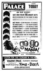 "palace movie theater  1965  "" Go Go Mania"" and ""Tomb of Ligeia"" double feature  1960s  albany ny (albany group archive) Tags: albany ny palace theatre gogo mania 1965 tomb ligeia british invasion oldalbany history"