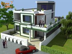 Duplex House Design (ApnaGharhd) Tags: house design duplex