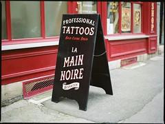 * (.BenShootsFilms.) Tags: mamiya film tattoo 645 besanon 80mm f19 m645