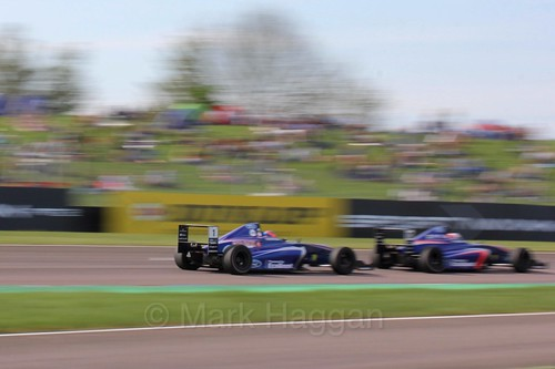 Devlin DeFrancesco  in British Formula Four during the BTCC Weekend at Thruxton, May 2016