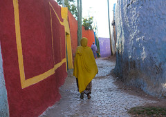 Women walking in front of multicolored houses in the old town, Harari region, Harar, Ethiopia (Eric Lafforgue) Tags: africa street travel people house color building heritage home horizontal wall architecture outdoors photography town ancient women colorful day islam vivid unescoworldheritagesite colored ethiopia multicolored oldtown 2people twopeople tranquil multicolor developingcountry hornofafrica harrar eastafrica vibrantcolor holycity harar abyssinia famousplace ruralscene buildingexterior harari oromo traveldestination harer builtstructure harariregion hararjugol harergeprovince harergey ethio162981