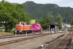 Pink SL at Wakasa Railway (4) (double-h) Tags: sl tottori jnr steamlocomotive c12   eos6d  ef2470mmf4lisusm  pinksl wakasarailway  c12 c12167 wakasastation classc12 c12 sl