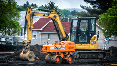 (Western Maryland Photography) Tags: maryland frostburg excavator frostburgstateuniversity alleganycounty ef70300mmf456isusm canoneos6d