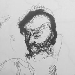 Georgian commuter (matvei voznik) Tags: train pen sketch metro railway sketchbook doodle commuter georgian draw passanger bnw lineart traveler citytrain fineliner