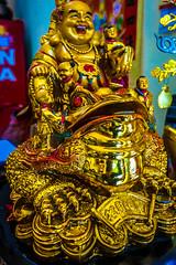 Rub Buddha for luck!