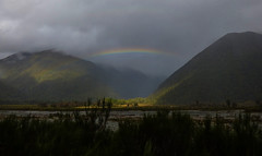 The Light of a Rainbow (Steve Taylor (Photography)) Tags: newzealand mountain green grey rainbow arch nz southisland southernalps