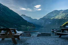 Geirangerfjord (Mich's Pictures) Tags: sunset mountain norway landscape mount paysage fjords geiranger