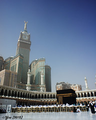 baitullah and clock tower (Yans Z) Tags: building tower clock masjid umrah makkah hajj kabah widelens baitullah