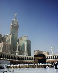 baitullah and clock tower (Yans Z) Tags: building tower clock masjid umrah makkah hajj kabah widelens baitullah