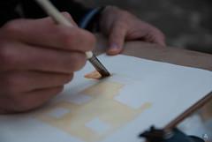 Urban Sketchers Marsicani al Lavoro! (Luca Angelini) Tags: panorama strada italia case valeria fiori acqua disegni fontana animali primopiano abruzzo scarpa pecore vecchia sfocato acquerelli profonditdicampo civitellaroveto circolofotografico bsmbini