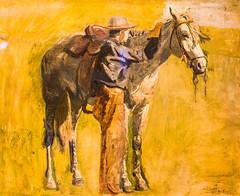 Thomas Had a Horse (Thomas Hawk) Tags: horse usa painting cowboy colorado unitedstates denverartmuseum unitedstatesofamerica denver musuem thomaseakins fav10 cowboystudyforcowboysintehbadlands