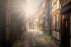 Wernigerode (Ronny Gbler) Tags: city sun sunlight licht town stadt altstadt sonne gasse sonnenlicht