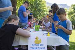 Decorating Ducks (aaronrhawkins) Tags: summer color students colors kids race children duck spring pond stream joshua decorate byu magicmarker brighamyounguniversity duckderby aaronhawkins