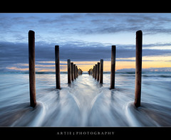 The Domino Effect :: 0.6S GND Lee Filter (:: Artie | Photography ::) Tags: seascape beach water photoshop canon flow landscapes tripod wave australia wideangle symmetry lee adelaide symmetrical poles filters 06 southaustralia e