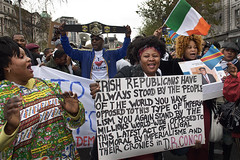 Congolese community in Ireland protest, Dublin (1)