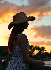 becoming night (Laurarama) Tags: nov family sunset vacation portrait home hat silhouette night gap american cowgirl odc gettycollection nikkor50mm14ai favoritetimeofday nikond7000 collectionp