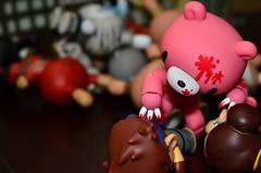 Street Fight - 15: Fall from Complacence (WindUpDucks) Tags: bear gloomy kidrobot ryu streetfighter chunli goldlife