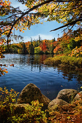 Nature's Window on Autumn (sminky_pinky100 (In and Out)) Tags: travel autumn lake canada tourism colours novascotia rossfarm theperfectpicture omot cans2s perfectioninpictures perfectioninpicturessupremeimages masterclasselite