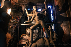 Unfinished Goddess Kali Idol [ Color Version ] (Sukanta Maikap Photography) Tags: india streetphotography diwali kolkata calcutta westbengal kalipuja dipabali kumartuli tokina1116f28 goddesskaliidols clayidolshalffinishedidols unfinishedkaliidols canon450dtokinaatxprosd1116mmf28ifdx