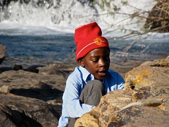 Discovery (MrGGBen) Tags: africa portrait smile southafrica kid discovery manchesterunited mpumalanga blyderivercanyon manunited blackkid