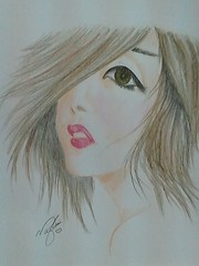 Girl (no0ouf^^) Tags: colour cute eye art love girl fun nice pin gray lips draw now pincel gentle     flickrandroidapp:filter=none