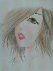 Girl (no0ouf^^) Tags: colour cute eye art love girl fun nice pin gray lips draw now pincel gentle الوان رسم قلم فتاة flickrandroidapp:filter=none