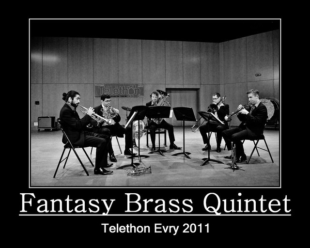 Evry Daily Photo - TELETHON Evry 2011 - Concert Fantasy Brass Quintet 3