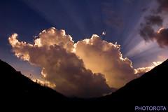 ENCHANTING RAYS. (PHOTOROTA) Tags: pakistan light sunset nature colors clouds landscape nikon flickr valley kaghan abid greatphotographers concordians nikonflickraward photorota