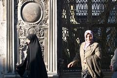 At the Bazaar.. (pranav_seth) Tags: street people architecture turkey raw hijab istanbul istanbullu carsaf
