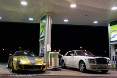 FERRARI 599 HAMANN GOLD & ROLLS-ROYCE DROPHEAD MANSORY (Eddy Clio) Tags: gold rollsroyce ferrari hamann 599 drophead mansory