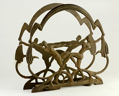 96. Art Deco Magazine Rack