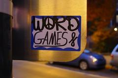 Word Games colab (-Curly-) Tags: streetart art word graffiti sticker stickerart curly word16
