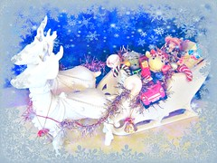 'Twas the Night Before Christmas 3 (Cathlon) Tags: christmas blue reindeer sleigh challenge scavenge ansh twasthenightbeforechristmas cmwd