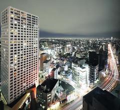Nerima Stream (spiraldelight) Tags: night tokyo traffic shift  nerima traffictrails lightstream  eos5dmkii tse17mmf4l