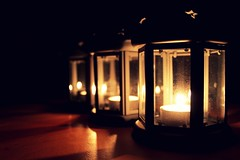 light (oana-emilia) Tags: light glass reflections three candles bright magic row lanterns reflective mystical seethrough odc mysticalfigure ourdailychallenge