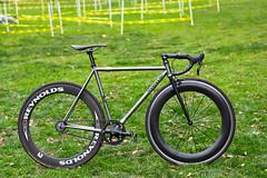 Beautiful Bicycle: Ed's Geekhouse Rockcity Track (John Watson / The Radavist) Tags: track fast thomson whip fixie fixedgear trackbike greengrass geekhouse madeintheusa meanbike