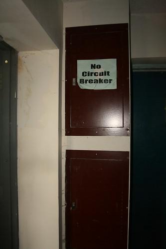 No circuit breaker sign