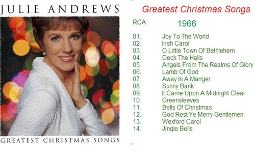 Julie Andrews ; Christmas Songs 1966 - a photo on Flickriver