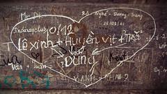 Lovers Graffiti (Laurie Beamont) Tags: city travel urban travelling love writing graffiti asia vietnamese grafitti south capital lovers east vietnam viet romeo script hanoi nam julliet