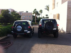 Fj cruisers (shine_on) Tags: car truck desert offroad 4x4 dunes saudi arabia toyota jeddah suv fj landcruiser saudiarabia cruiser  fjcruiser    bahra
